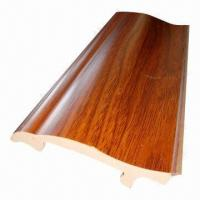 Buy cheap Imitation wood decorative PVC skirting board for home from wholesalers