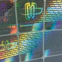Buy cheap Custom 3D anti-fake hologram sticker serial number laser label for toys from wholesalers