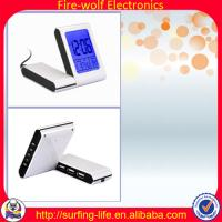 Buy cheap With 3USB-HUB alarm clock,Charming alarm clock manufacture & factory,Travel clock from wholesalers