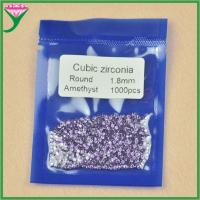 Buy cheap supply loose small round shape 1.8mm occidental amethyst table diamond crystals for sale from wholesalers