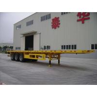 Buy cheap 40 Foot High Flat Bed Semi Trailer With 3 Axles For Carry Container Or Cement Bags from wholesalers