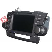 Buy cheap 2G RAM Toyota Highlander Dvd Player , 8 Inch Double Din Head Unit Support TPMS from wholesalers