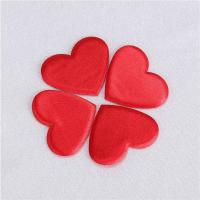 Buy cheap Heart Applique Crafts Flat Padded For Valentines Day Gift Decoration from wholesalers
