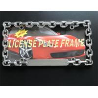 Buy cheap Chain Style Vehicle License Plate Frames / Auto Plate Frames With Chrome Metal Finish from wholesalers
