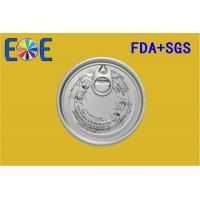 Buy cheap 300# Aluminum Easy Open Ends , 73mm Canned Rice Pudding Open Lid from wholesalers