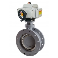 Buy cheap Double Eccentric DN80 DN125 Electric Flange Butterfly Valve from wholesalers