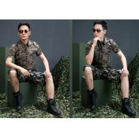 Buy cheap Custom short Sleeves Military Dress Uniforms Army Camouflage Clothing from wholesalers