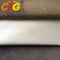 Buy cheap 100% Polyester 145cm width 390gsm weight suede fabric with plush backing for car seat cover product