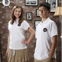 Buy cheap High school polo shirts white cotton blouses Customized Students T Shirt from wholesalers