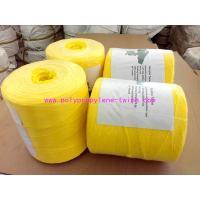 Yellow Fibrillated Yarn Polypropylene Baling Twine Free Sample 1% - 2% UV