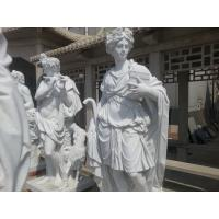 Buy cheap Greece White marble statues with polish from wholesalers