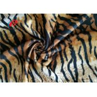 Buy cheap Tiger Stripe Velboa 100% Polyester Velvet Fabric , Animal Print Faux Fur Fabric from wholesalers