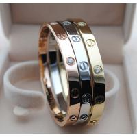 Buy cheap Imitation brand Cartier gold stainless steel crystal screw bracelet with screwdriver from wholesalers
