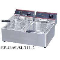 Buy cheap Table Top Restaurant Cooking Equipment , Single / Double Tank Electric Fryer Commercial from wholesalers