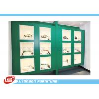 Buy cheap Green Painted Showcase Wood Display Cabinets For Mechanical Tools / 4200mm * 600mm *2400mm from wholesalers