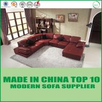 Buy cheap Modern U-Shape Home furniture Leisure Wooden Sectional Corner Leather Sofa Bed from wholesalers