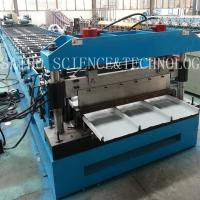 Buy cheap LYSAGHT KLIP-LOK 406 Roll Forming Machine Drive by Chain with 5T Manual Decoiler from wholesalers