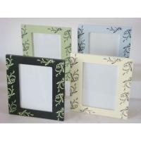 "Buy cheap 5x7"" green / blue / Cream Wood Square Personalized Photo Frames For Home Decoration product"