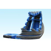 Buy cheap Monster Inflatable Big Water Slides For Kids , Water Inflatable Slide Blue And Gray Color from wholesalers