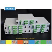 "Buy cheap 19"" Rack Mount Passive Fiber Optic PLC Splitter chassis for different ratio PLC splitters from wholesalers"