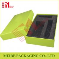 Buy cheap Chip board Paper Creen Print Customized design Gift Box With Black Foam for gift set from wholesalers