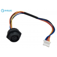 Buy cheap 6P Panel Mount Waterproof M16 Female to JST PAP-05V-5 1007 24AWG Electrical Cable from wholesalers