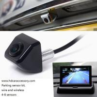Buy cheap 4.3 inch car color LCD folded monitor two way vedio input easy install and good factory price rearview safety product