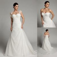 Buy cheap Fashion Detachable Two Piece Wedding Dresses Casual Wedding Gowns from wholesalers
