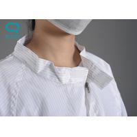 China Safe 0.5 Stripe Anti Static Workwear Clothing Cleanroom Apparel Smock on sale