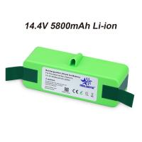 Buy cheap 14.4V 5800mAh Li-iON iRobot Vacuum Cleaner replacement Battery for Roomba 500 600 700 800 Series 510 531 532 620 650 770 from wholesalers