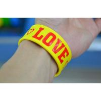 Buy cheap cheap silicone slap bracelet , silicone bracelets wristband price product