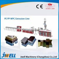 Buy cheap Jwell fully automatic WPC plastic extrusion line for PE&PP from wholesalers