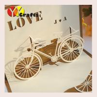 Buy cheap Special bicycle design Pop Up Happy Birthday Cards  for sunshine kids from wholesalers