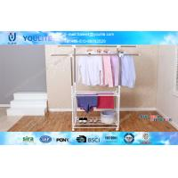 Buy cheap Sturdy Double Pole Clothes Rack Wholesale / Smart Cloth Drying Rack Stand from wholesalers