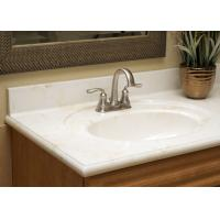 Buy cheap Pure White Artificial Stone Countertops Vanity Tops Bath Tub Montary Brand from wholesalers