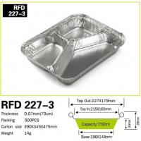Buy cheap 3 Compartment Aluminium foil container for Fast Food from wholesalers