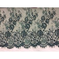 Buy cheap 100% Nylon Eyelash Lace Fabric Hot Selling Ivory green double color from wholesalers