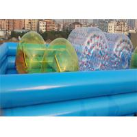 Buy cheap Colorful 1.0MM PVC Water Ball Inflatable Water Parks / Double-layer Inflatable Pool from wholesalers