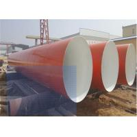 Buy cheap Large Carbon Steel Anti Corrosion Pipe / Length 5.8m-12m Round Metal Pipe product