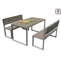 Buy cheap Plastic Wood Outdoor Restaurant Tables Commercial KD Patio Dining Sets With Bench from wholesalers