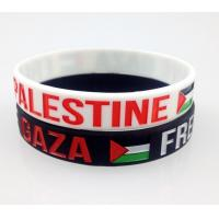 Buy cheap Durable Custom Printed Silicone Wristbands / Rubber Bracelets With Words from wholesalers