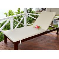 Buy cheap Outdoor Wooden Lounge Chair Leisure Sun Lounger Environmentally Friendly Lacquer from wholesalers