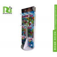 Buy cheap Custom Pop Corrugated Jewelry Floor Spinner Display Rack With Peg Hooks from wholesalers