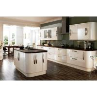 Buy cheap Villa Simple Pvc Kitchen Cabinets White Color With Oven / 1 - Shape Island Bench from wholesalers