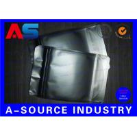 Buy cheap Matt Black Heat Seal Aluminum Foil Bags With Zip Lock / Mylar Sleeves from wholesalers