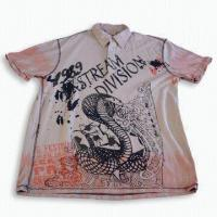 Buy cheap Tie-dyed Men's Delicate Polo Shirt with Ink Printing Design from wholesalers