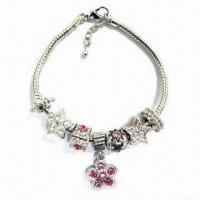 Buy cheap Pandora Style Bracelet, Made of Zinc Alloy with Silver or Gold Platting from wholesalers