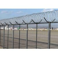 Buy cheap Green Airport Security Fencing , Building Barbed Wire Fence With Flat Razor Wire from wholesalers