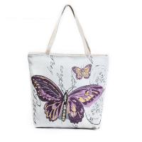 Buy cheap Butterfly Printed Shoulder Bags for Girls , Tote Shopper Bag from wholesalers