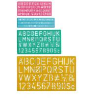 Buy cheap Plastic Lettering Guide Set from wholesalers